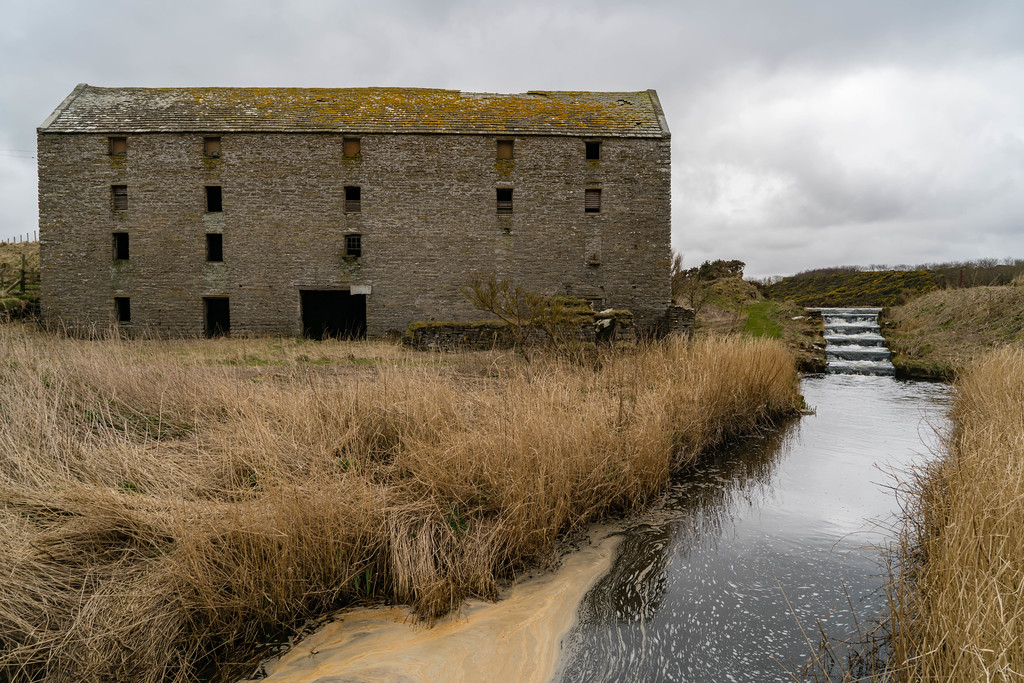 The old mill on the north coast of Scotland