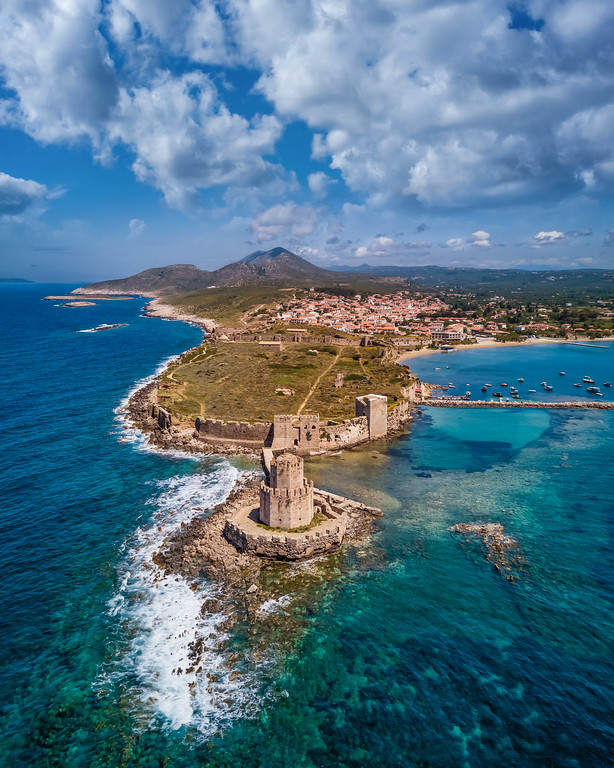 Methoni Castle is in such a beautiful setting