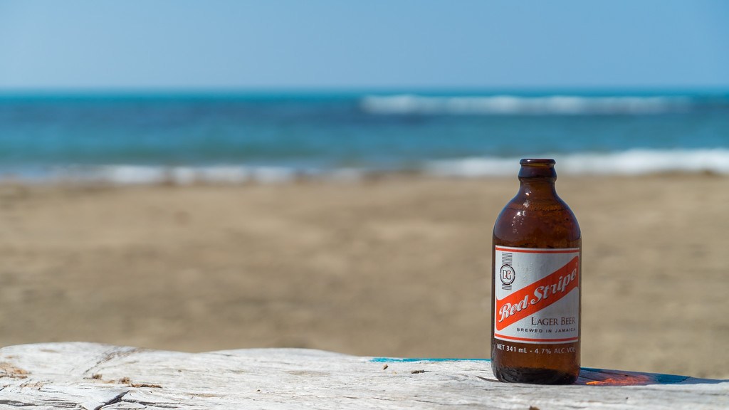 Any time is a good time for Red Stripe beer in Jamaica