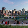 Watching the Sunset over Downtown Calgary