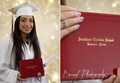 Professional senior, cap and gown, portraits by Bailey Brand Photography.  Serving the Central Florida area.