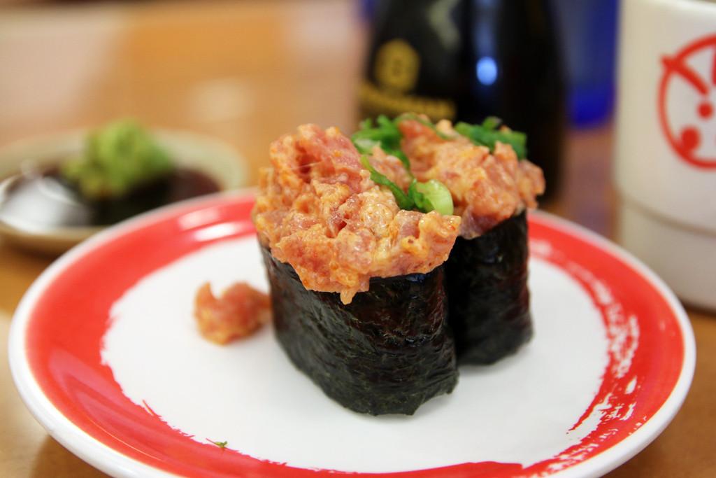 Tuna bomb from Genki Sushi