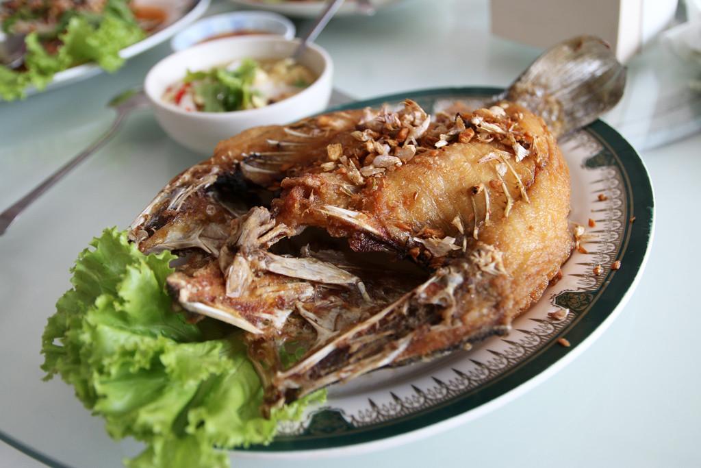 Thai seafood feast
