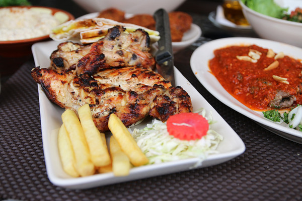 Lebanese barbecue chicken
