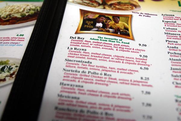 Los Reyes De La Torta menu