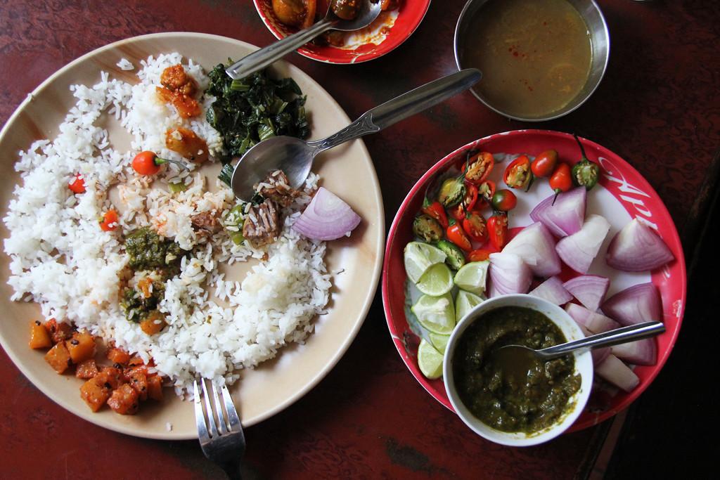 Home-cooked food in Darjeeling