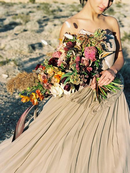 Purple & Orange Bridal Bouquet | Kristen Kay Photography