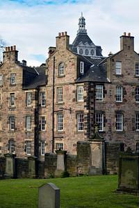 The apartments of Edinburgh from Greyfriars Kirkyard Cemetary