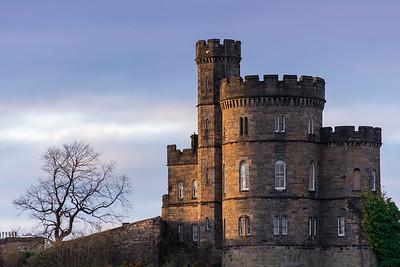 Scottish Castle House on Edinburgh's Calton Hill