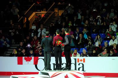 Senior Men Ceremony -2018 Canadian Tire National Skating Championships