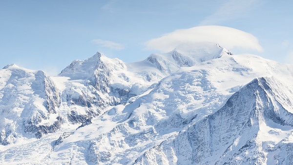 Mont Blanc vue des Grandes Platières, France
