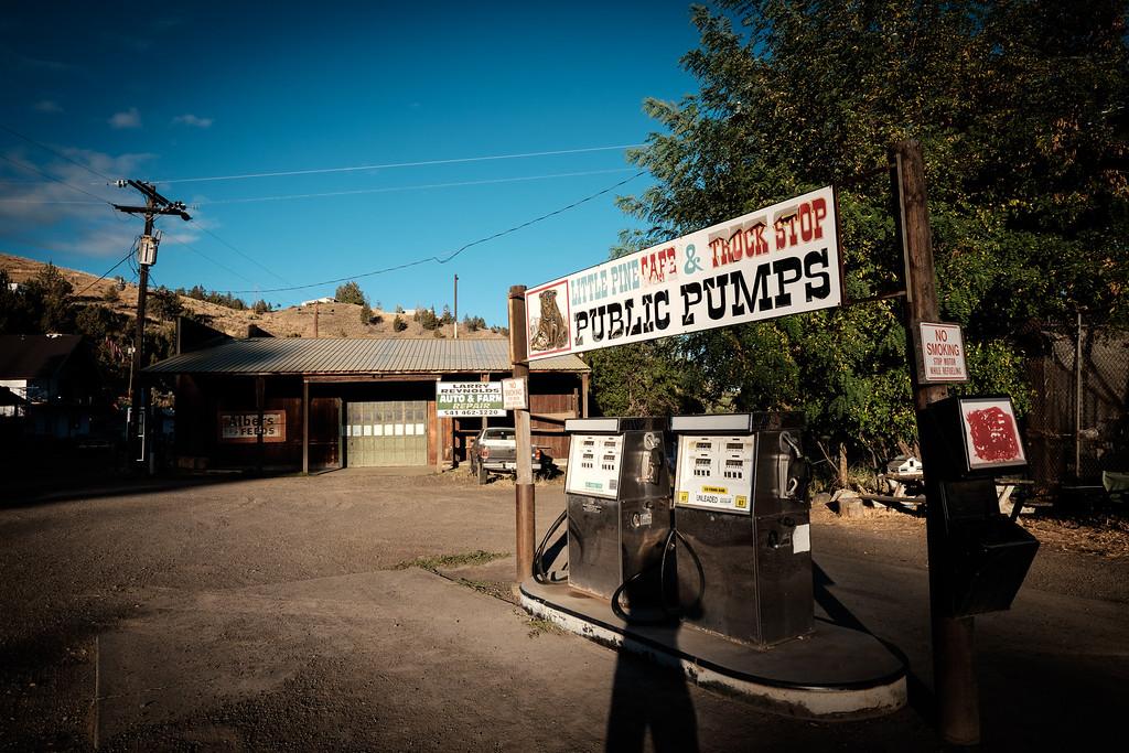Gas Station at Mitchell, Oregon