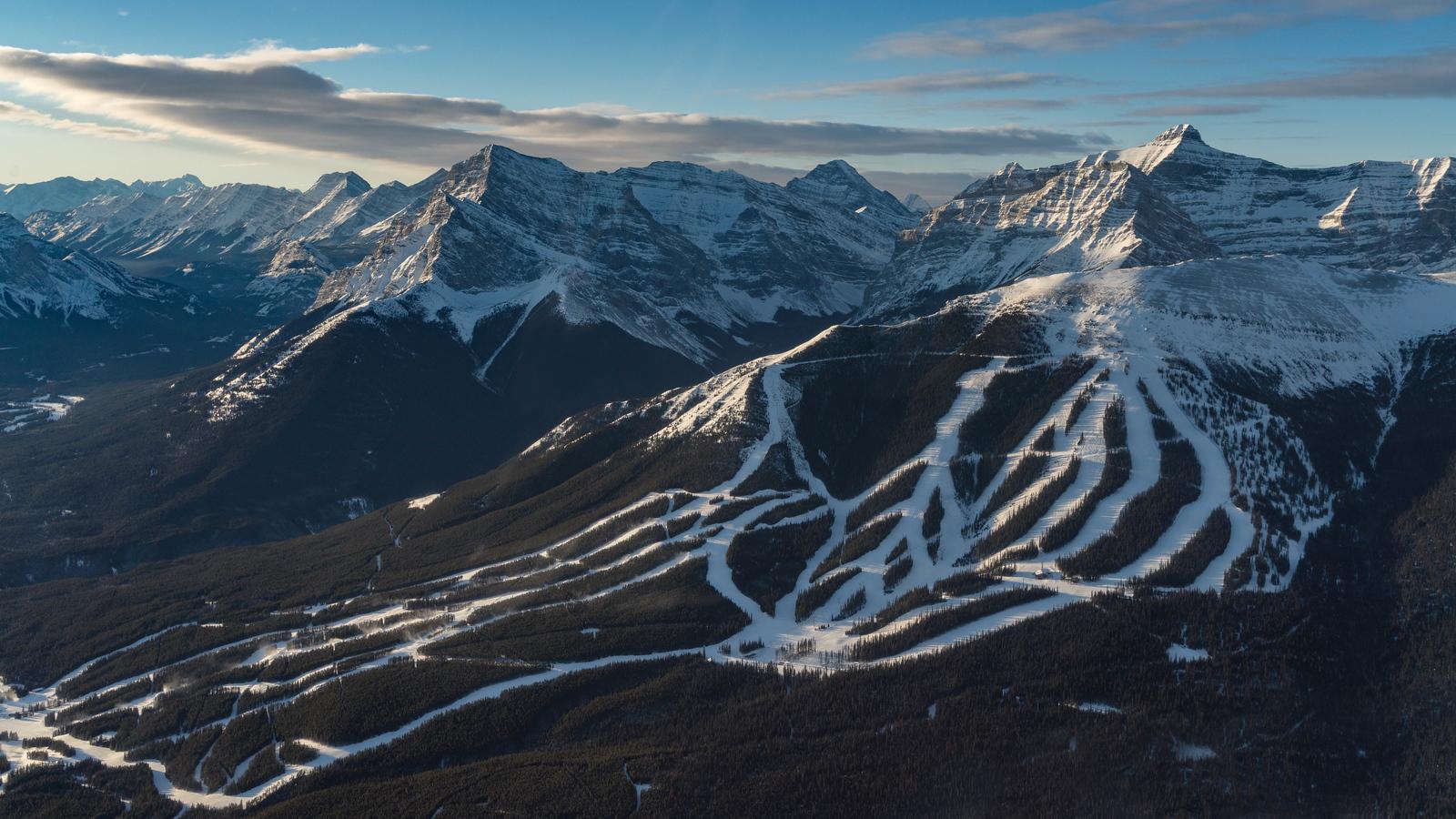 ski hills inside Banff National Park