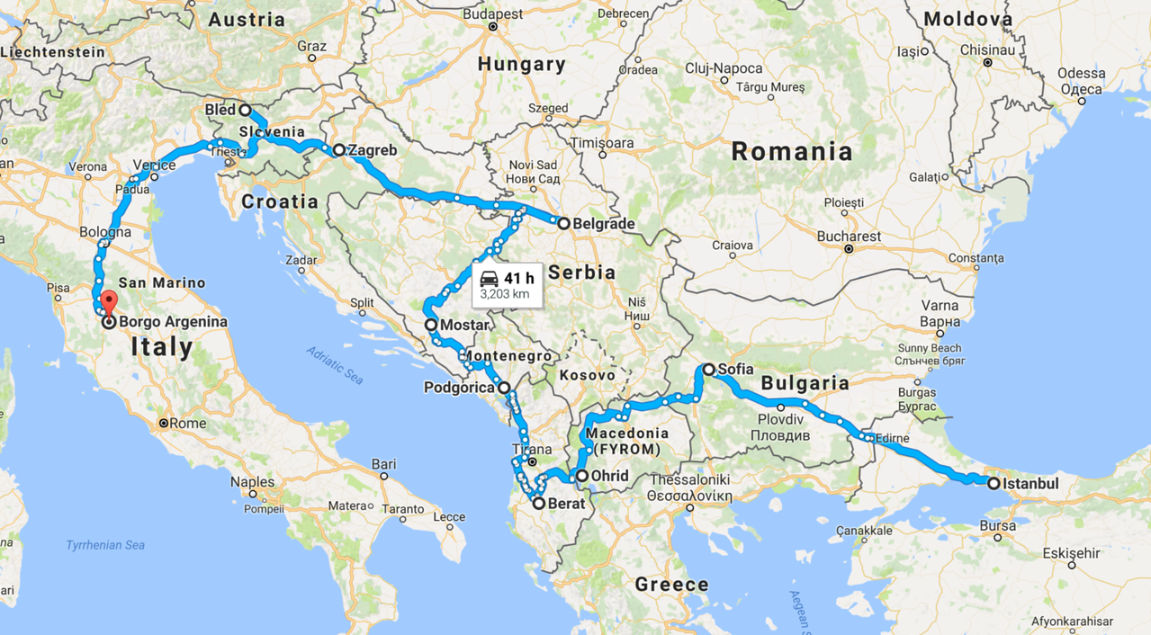 globetrotting challenge route turkey to tuscany