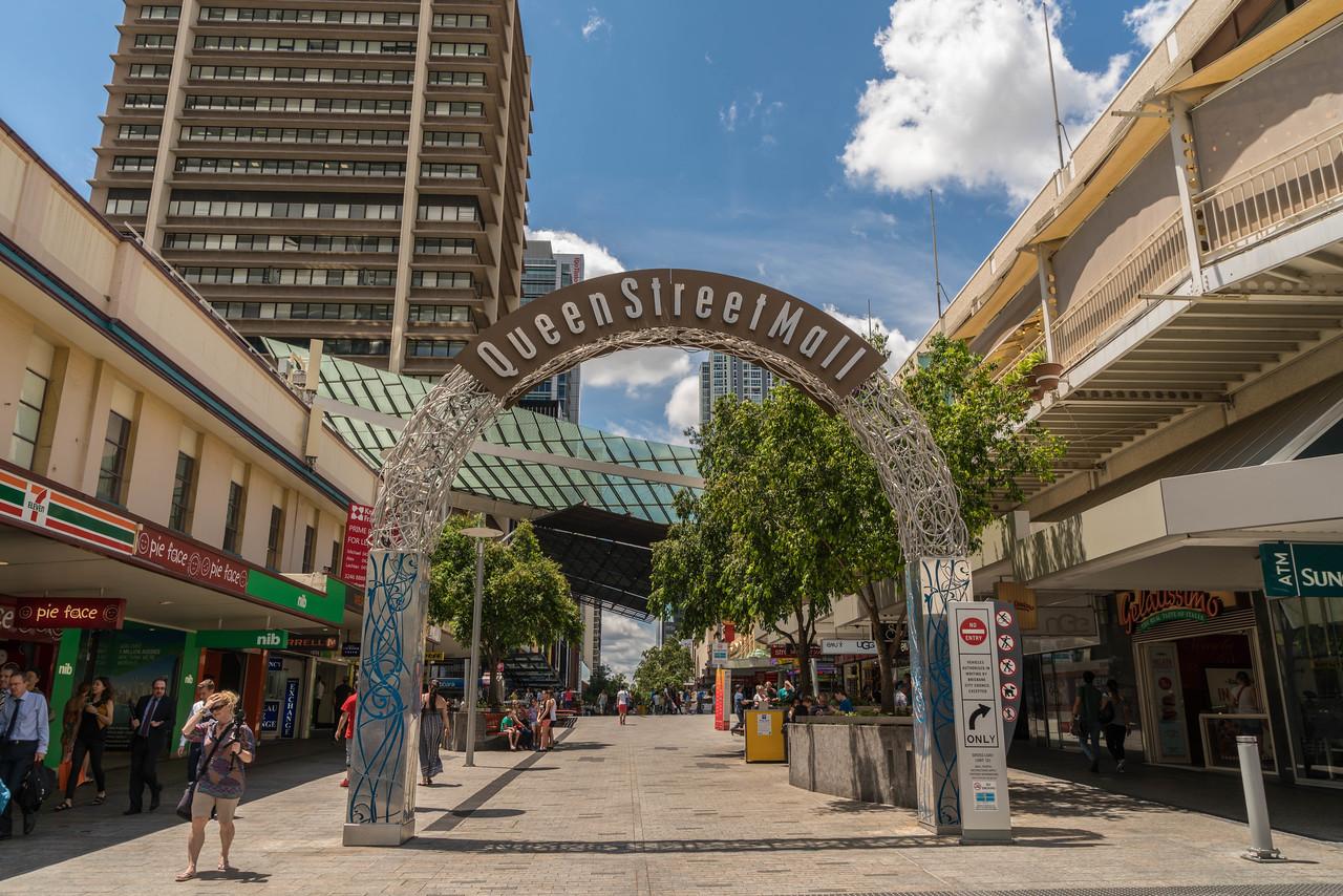 Queen Street Mall in Brisbane, Australia