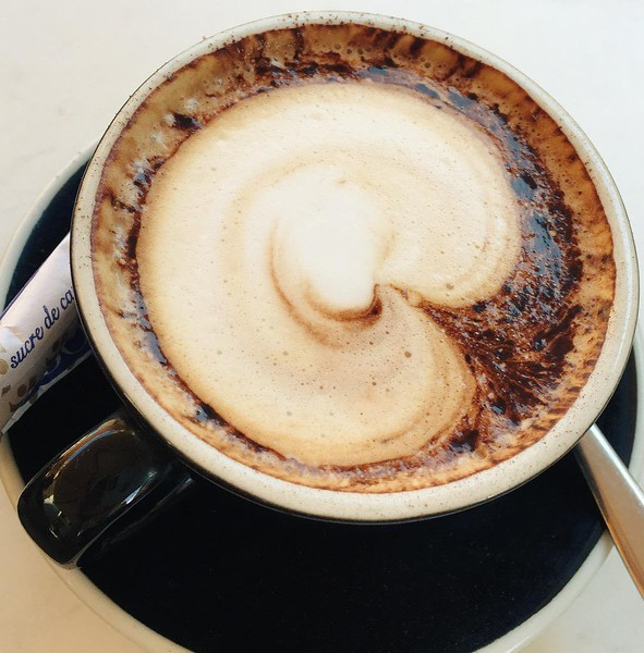Brazilian cuisine and drinks coffee