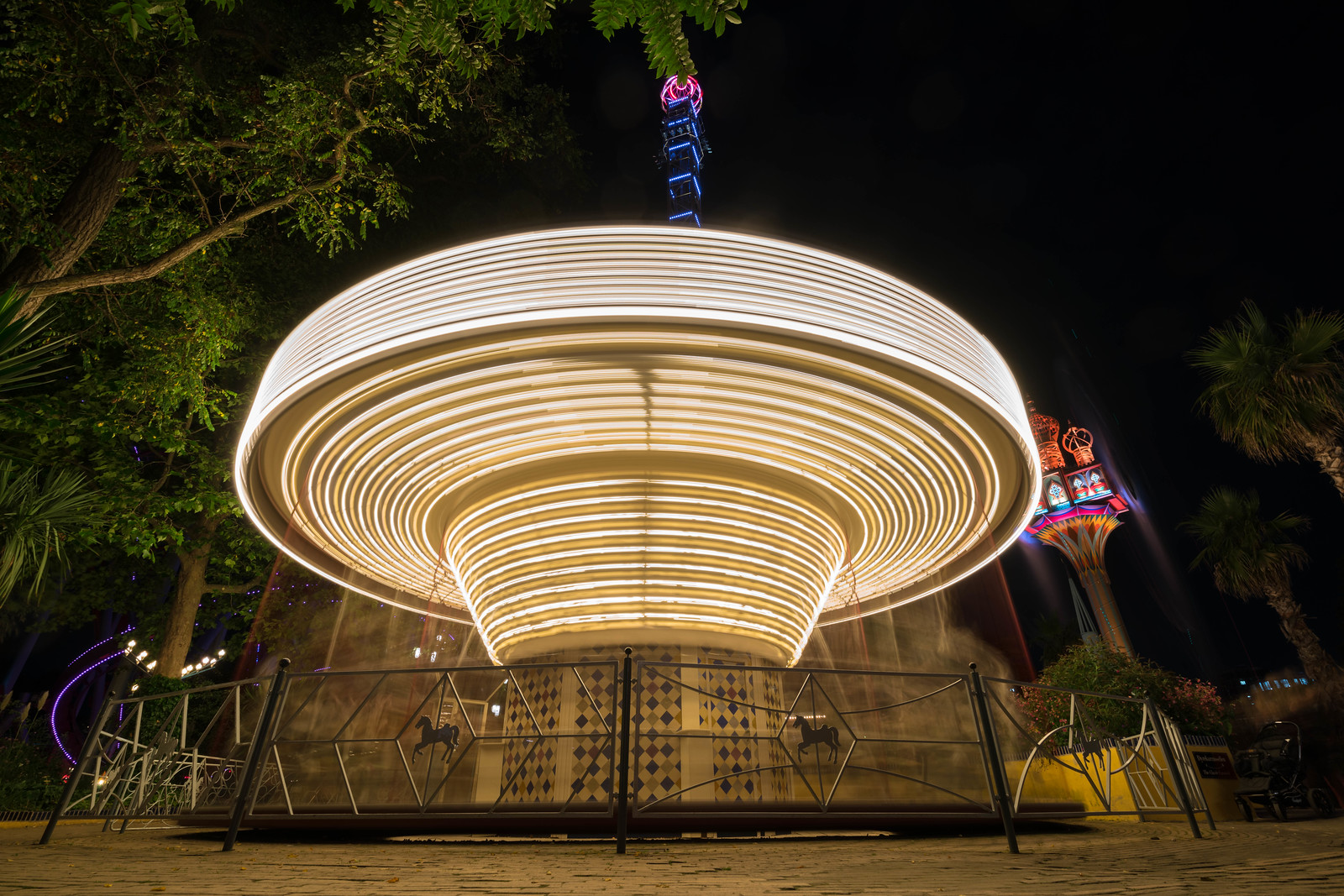Even kids will have a blast on the classic rides at Tivoli Gardens