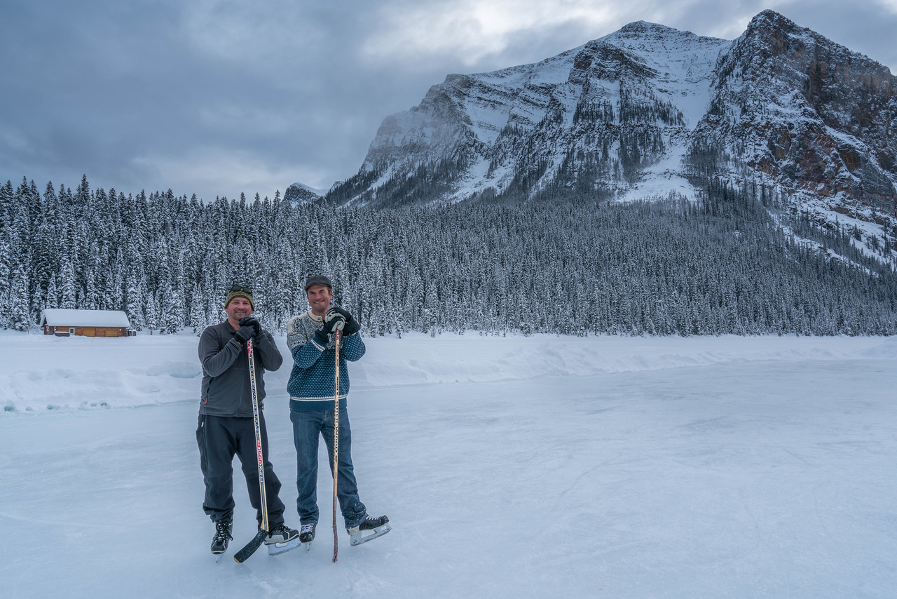 things to do in Banff - Pond Hockey