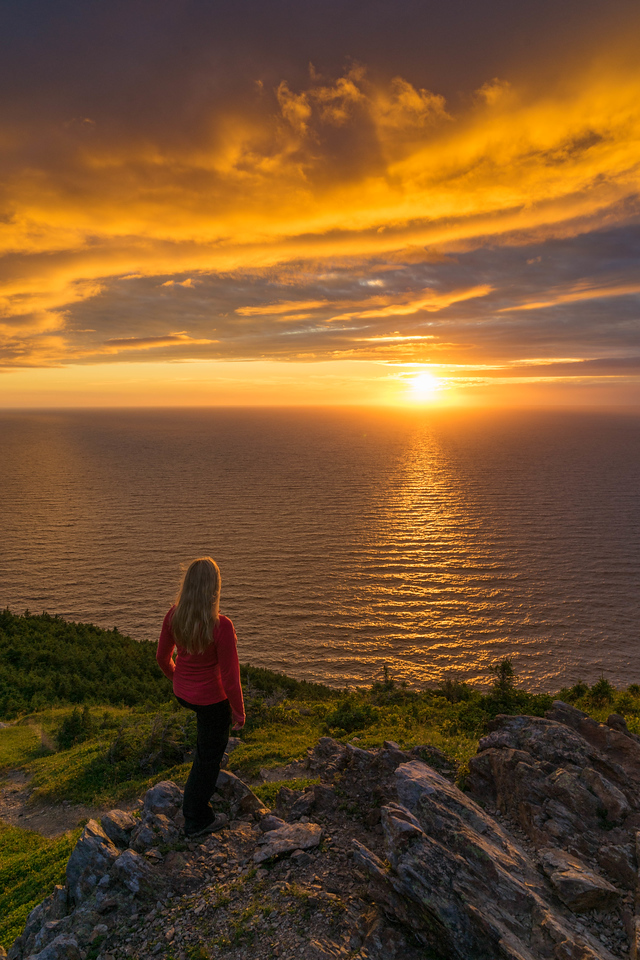 The Skyline trail in Cape Breton at sunset