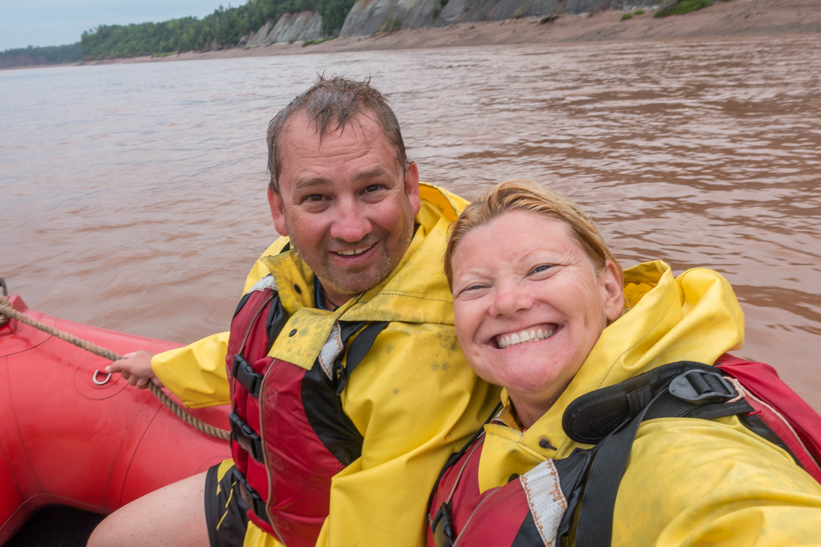 fun tidal bore rafting in Nova Scotia