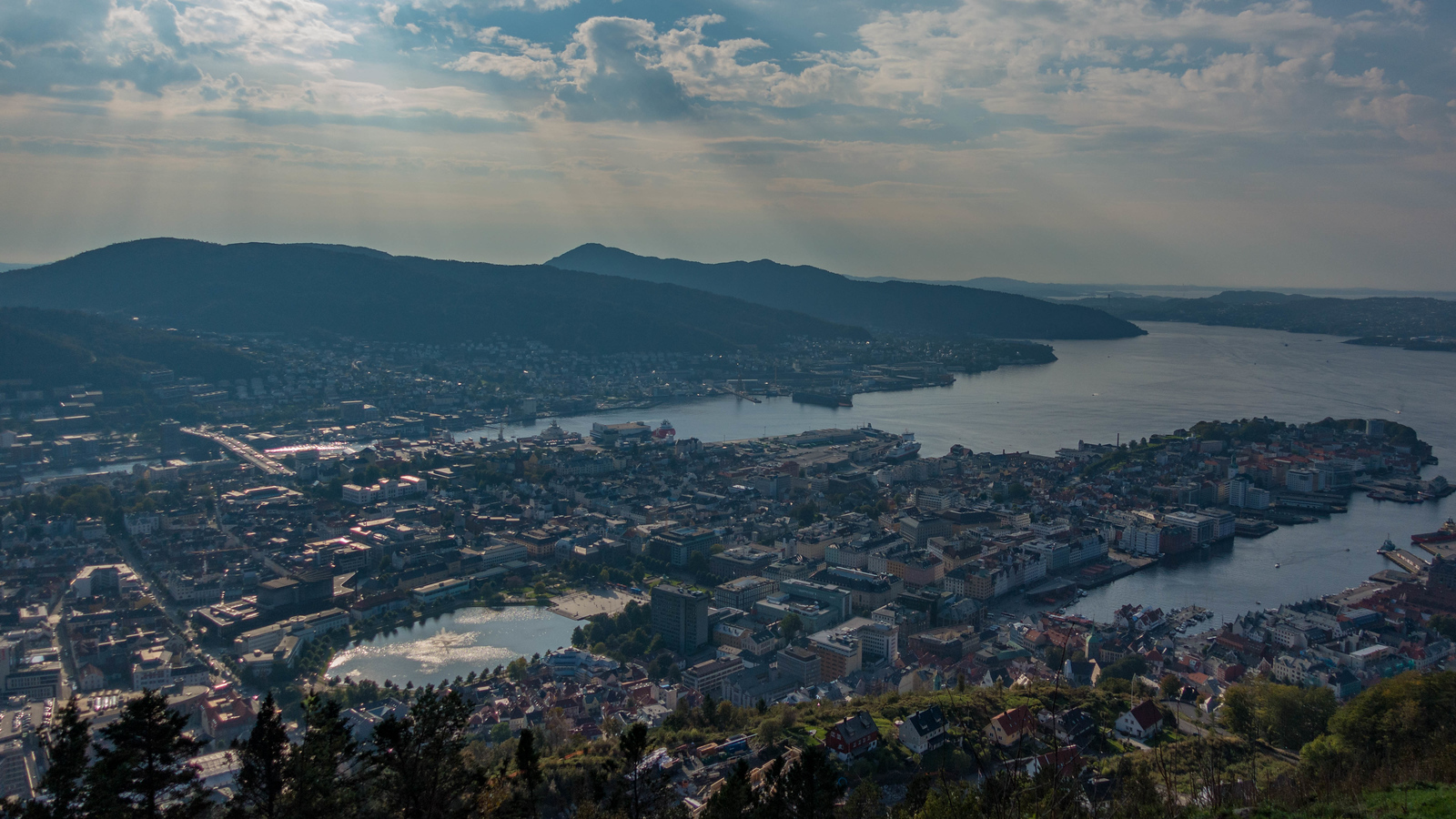 Views from the Funicular in Bergen, Norway