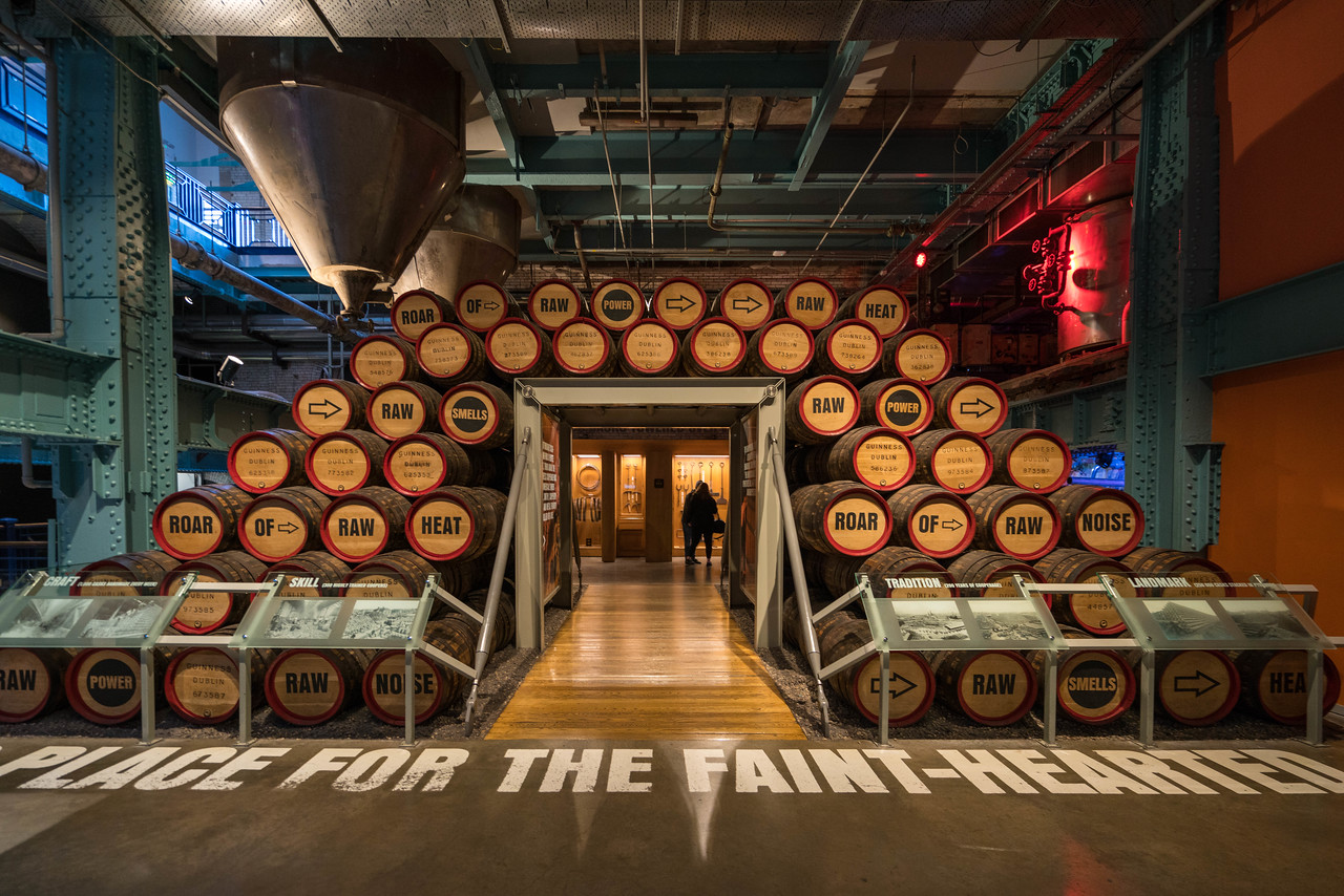 The casks in which Guinness used to be stored. They are called a Firkin!