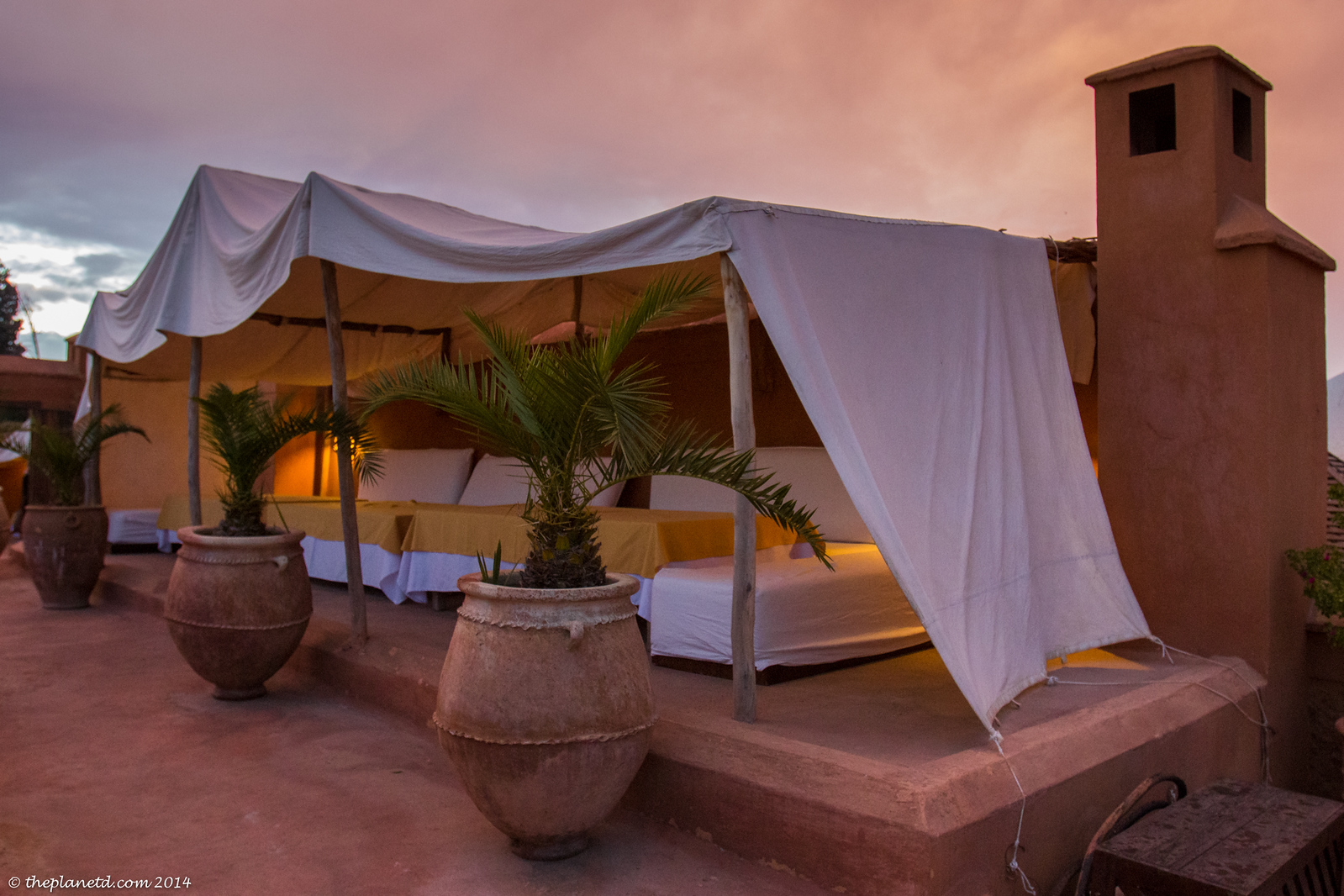 Stay in a Riyad in Marrakech.