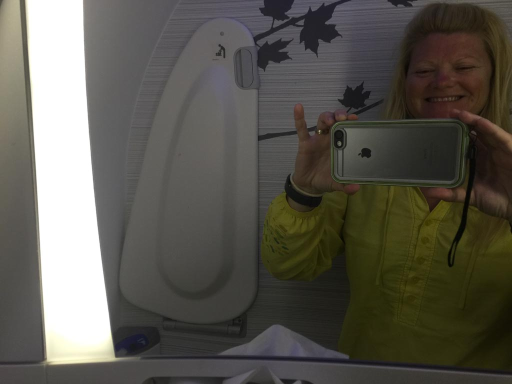 business class air canada Bathroom