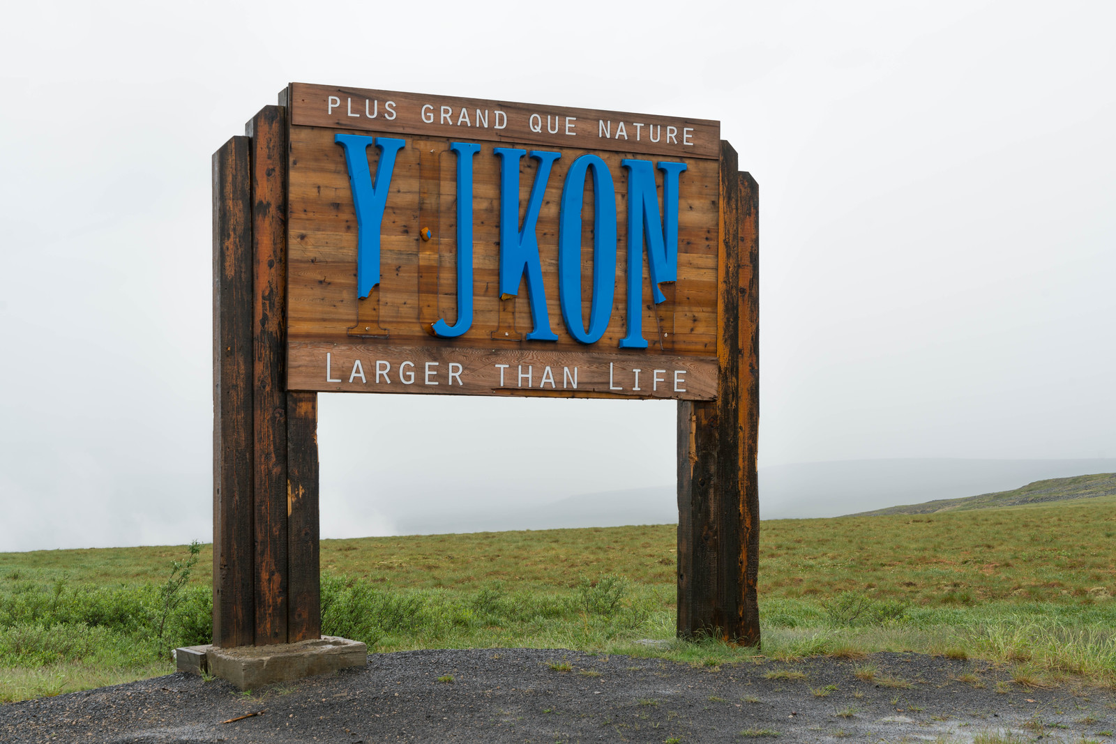 Welcome to the Yukon on the Dempster Highway