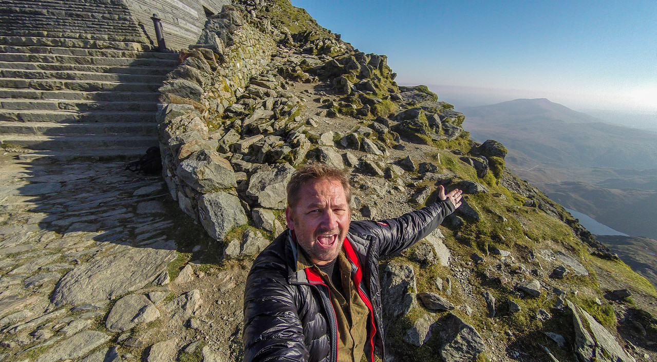 Dave in Snowdonia wales photos