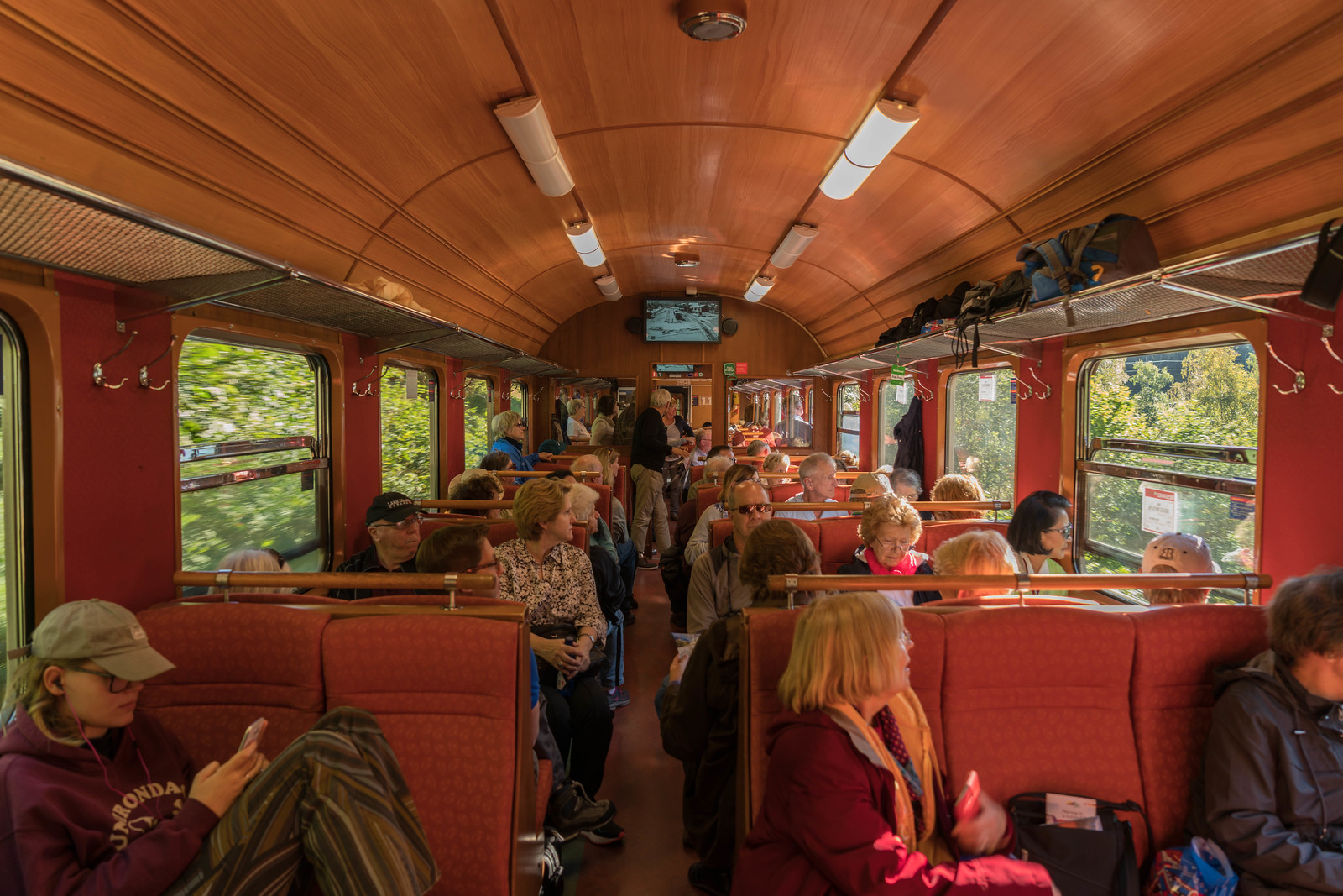 Traveling in comfort and style on the Flam Railway
