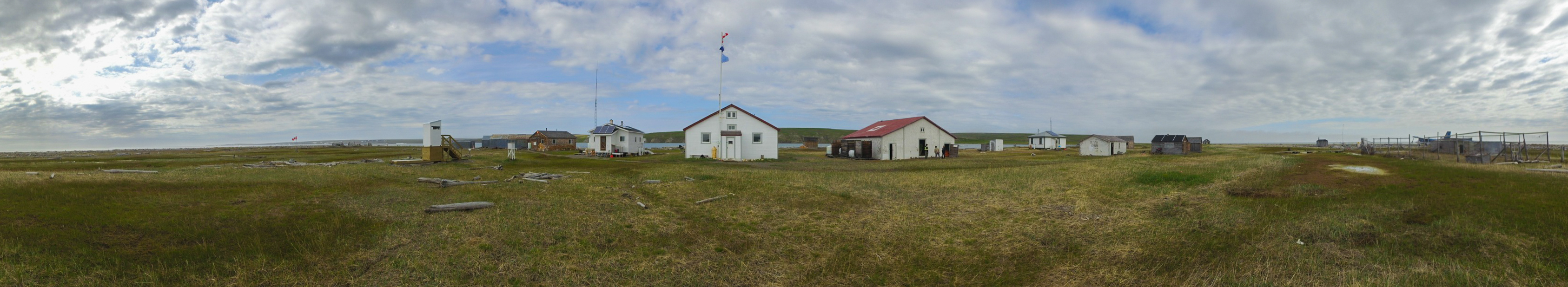 The massive outpost of Herschel Island in Yukon, Canada