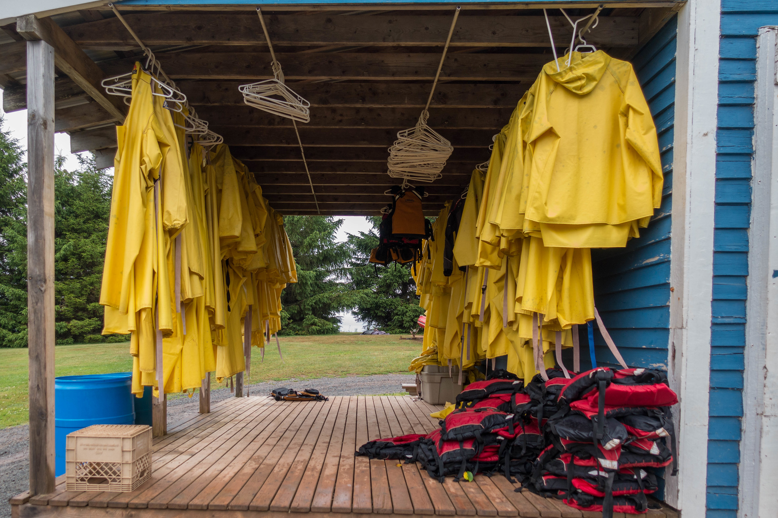 The necessary gear for Tidal Bore Rafting