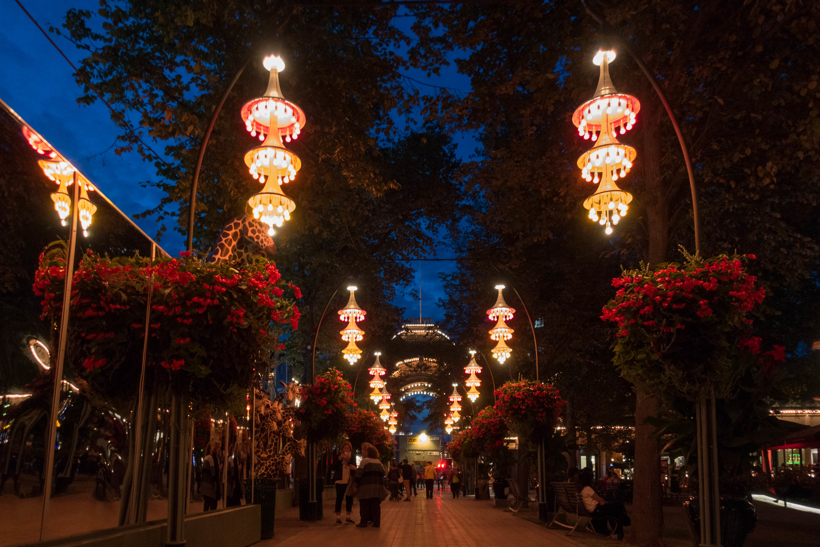 The Entrance to Tivoli Gardens in Copenhagen