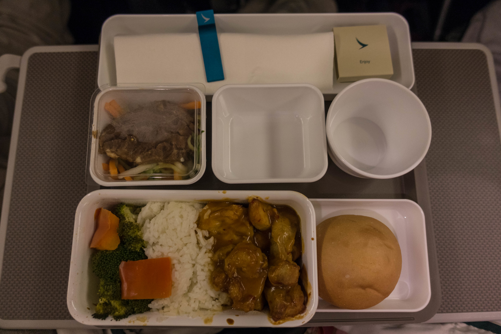 Cathay Pacific Premium Economy meals were certainly better than coach