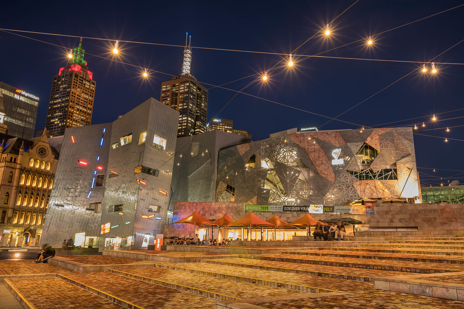 Federation Square in Melbourne.