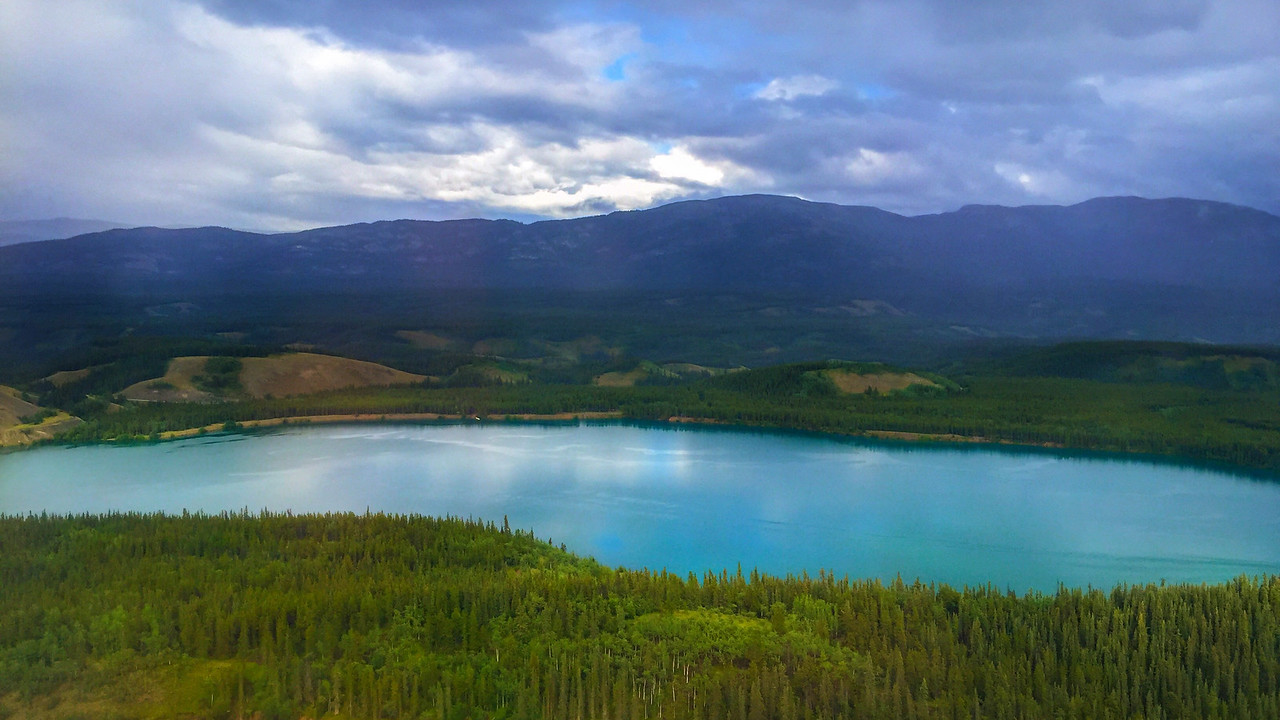The view flying into Whitehorse, Yukon, Canada