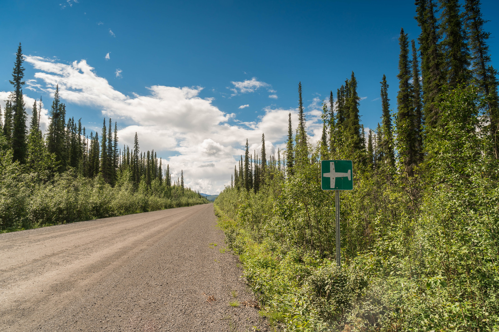 Can you believe the Dempster Highway is also a runway?