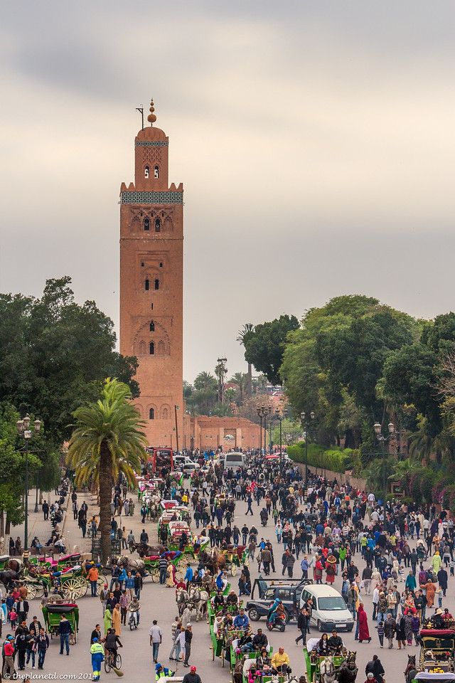 You can't miss the Koutoubia Mosque marrakech