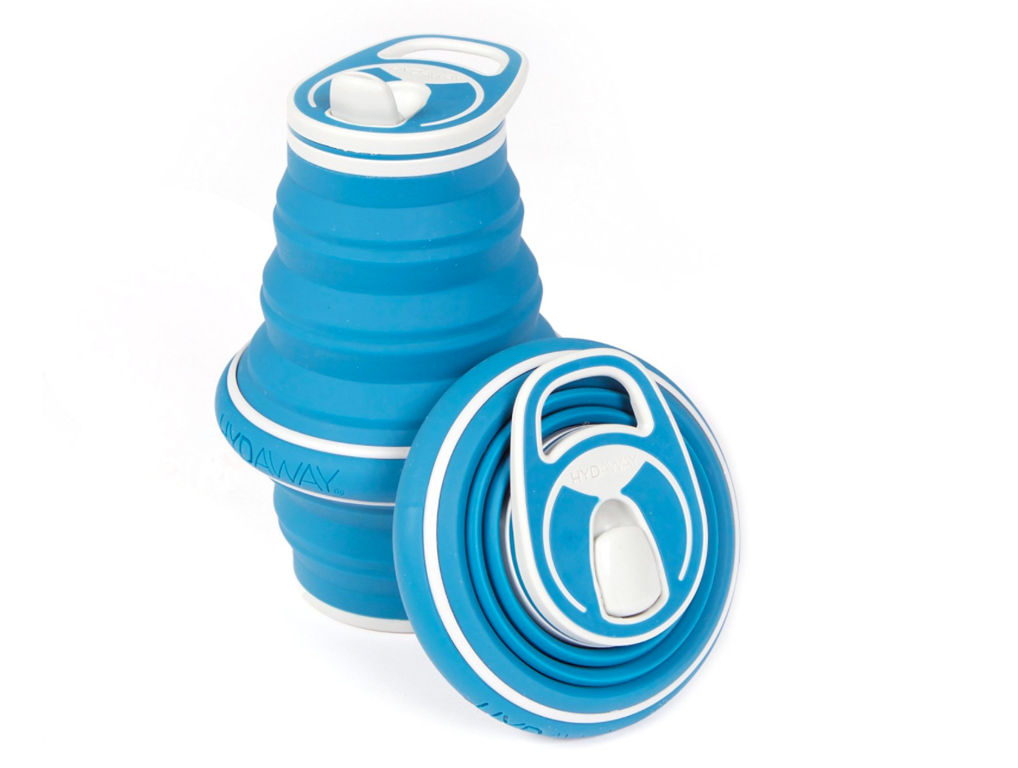 collapsable water bottle blue travel gift ideas