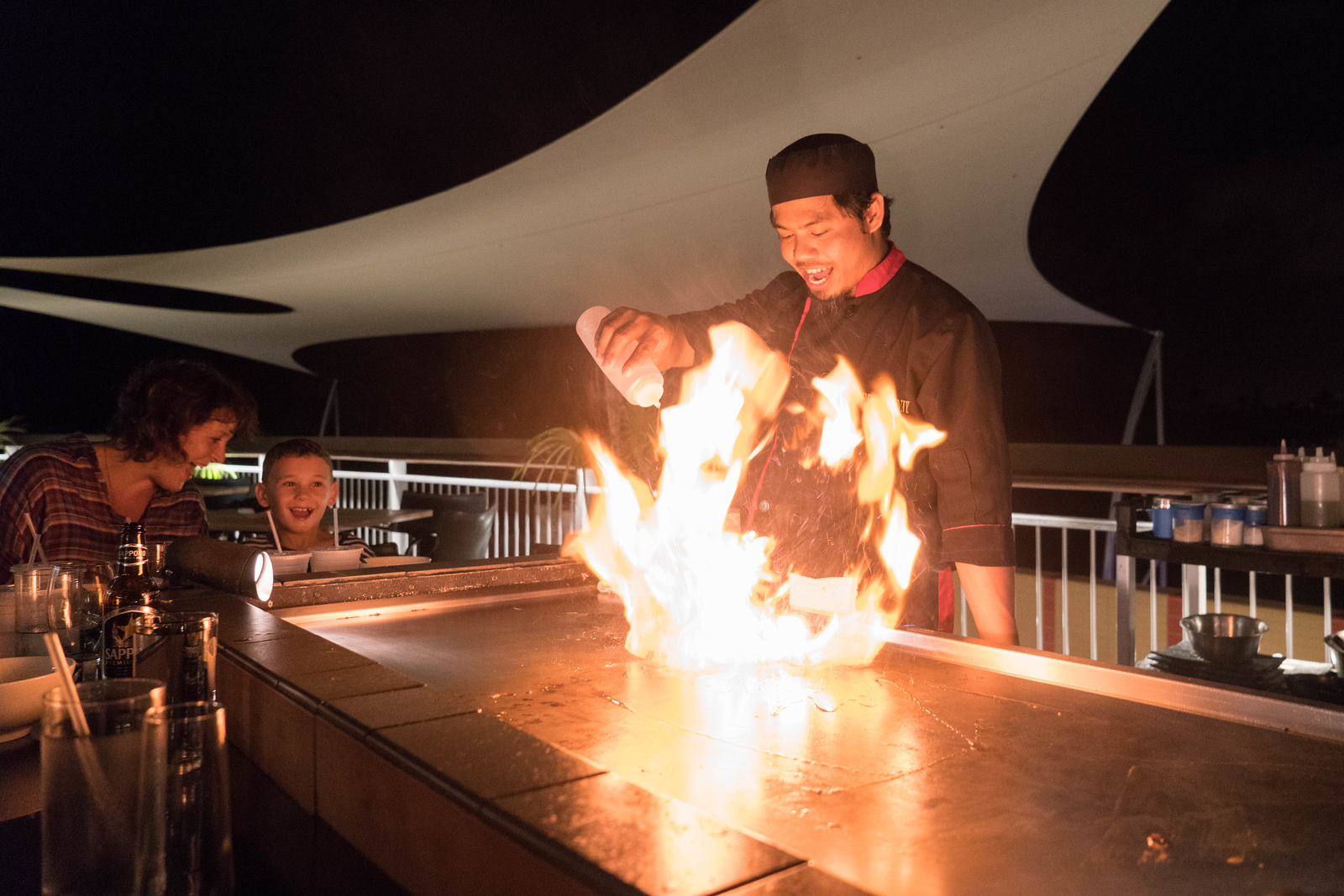 What to in Grand Cayman: Have a Teppanyaki Dinner