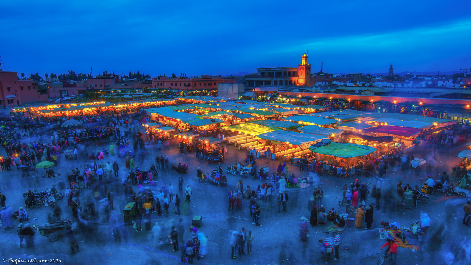 The Main square in Marrakech known as Jemaa-El-Fnaa