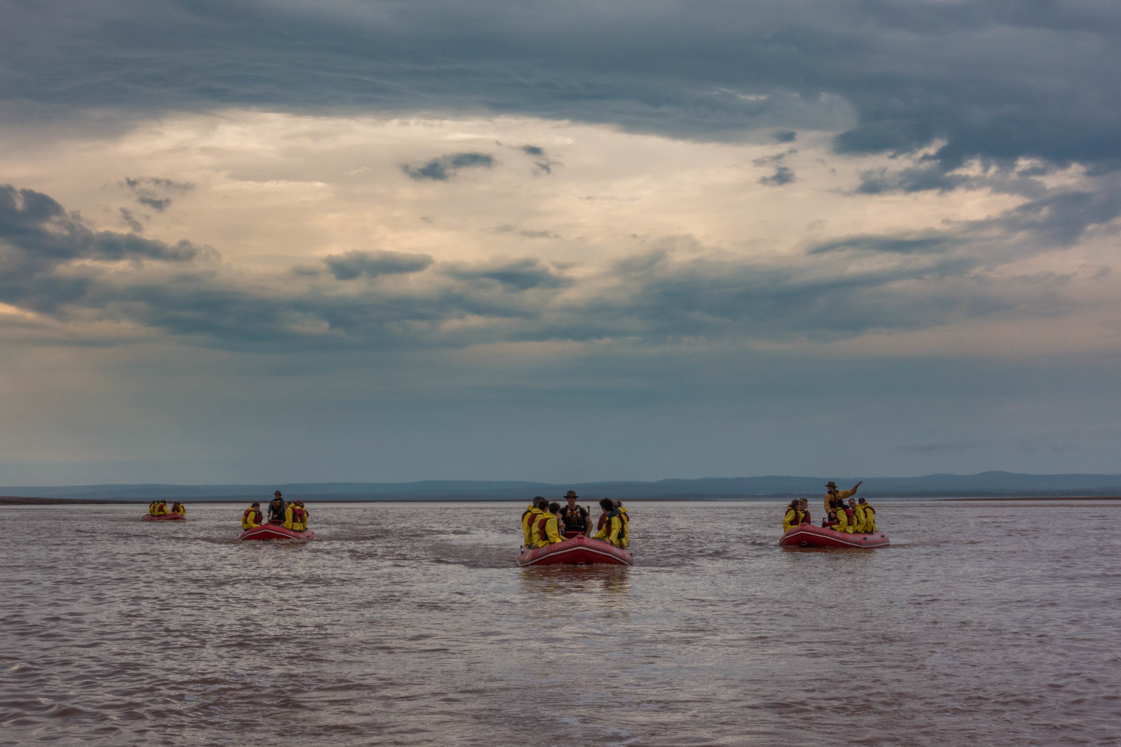 All in a days work of Tidal Bore Rafting