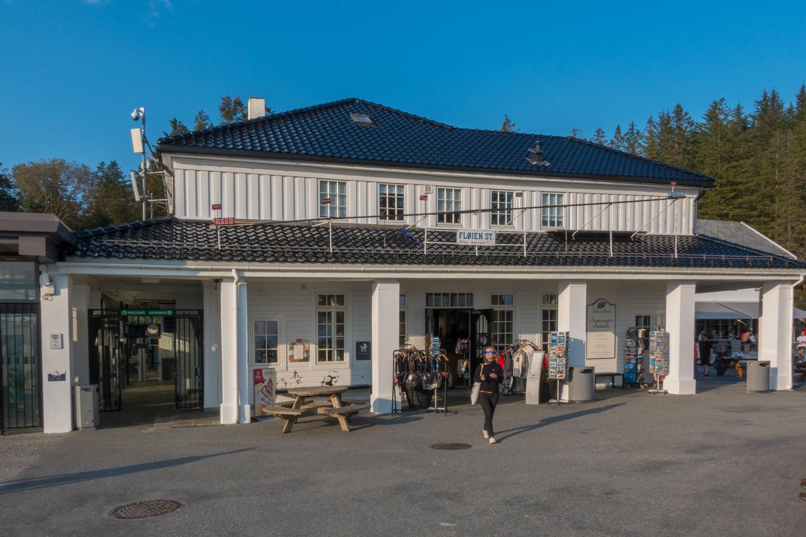 Funicular in Bergen, Norway