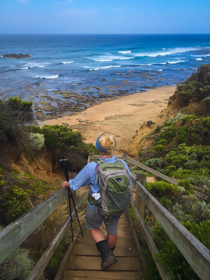 There were no shortage of stair climbs on the Great Ocean Walk.
