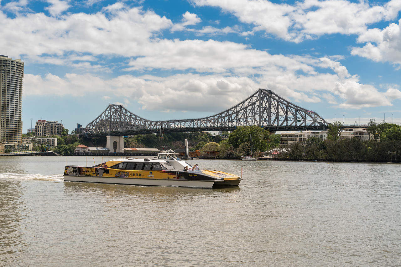 Jump on the City Hopper to get around Brisbane