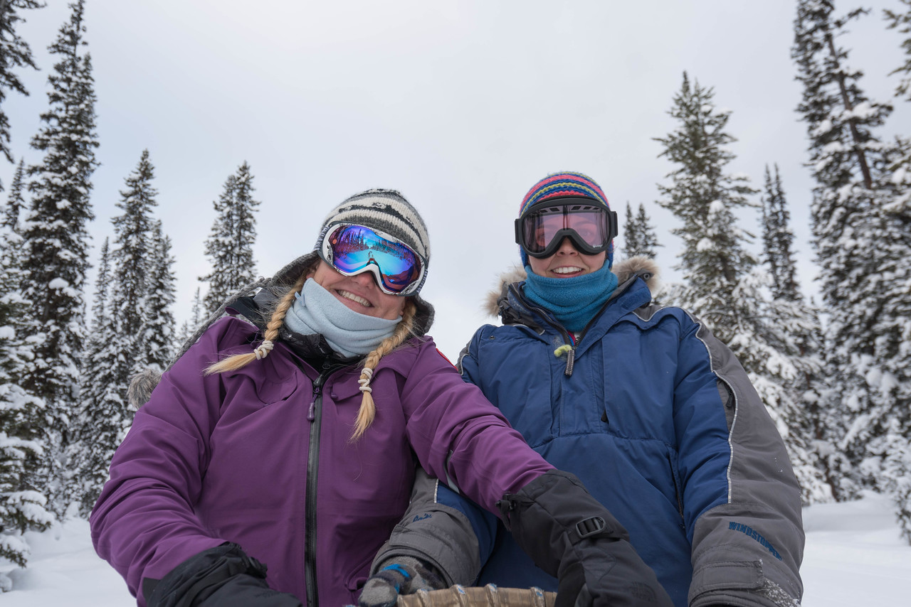 Our guide from Kimik Dogsledding Kylie from Australia