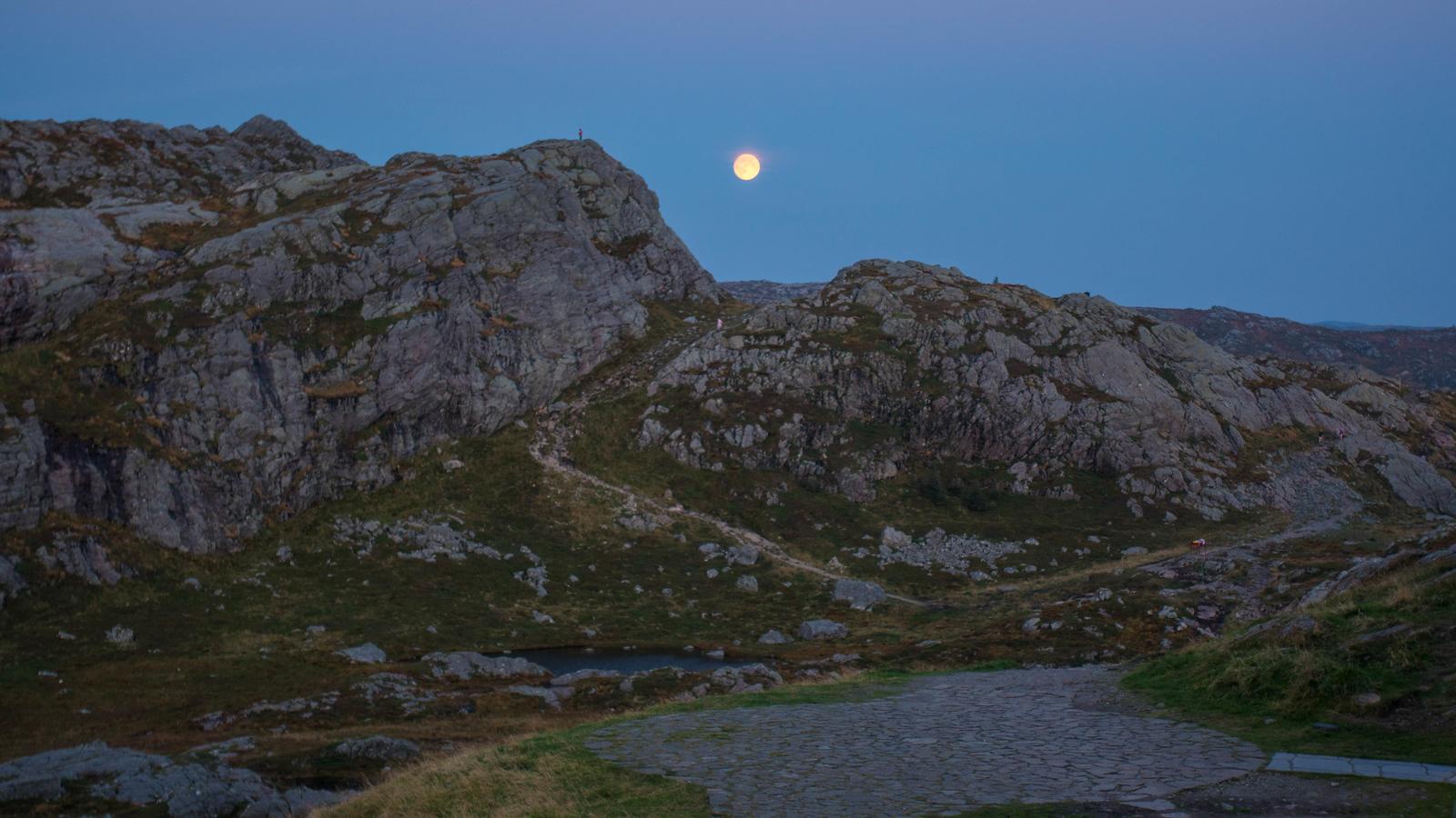 The Mountains surrounding Mount Urlicken in Bergen, Norway