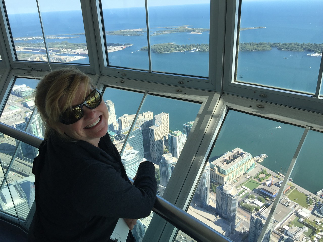 Deb at the CN Tower