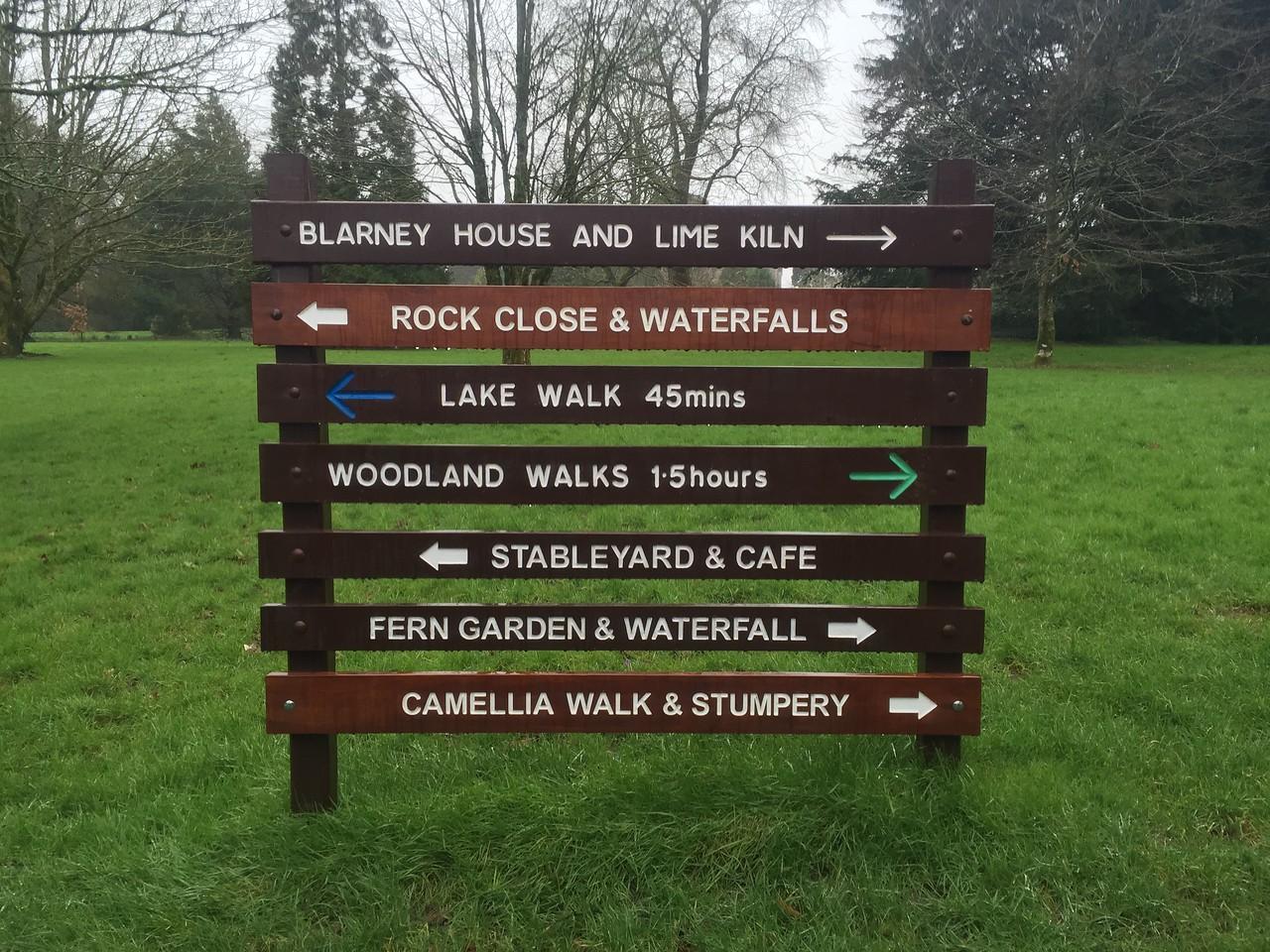 Blarney Castles Sign
